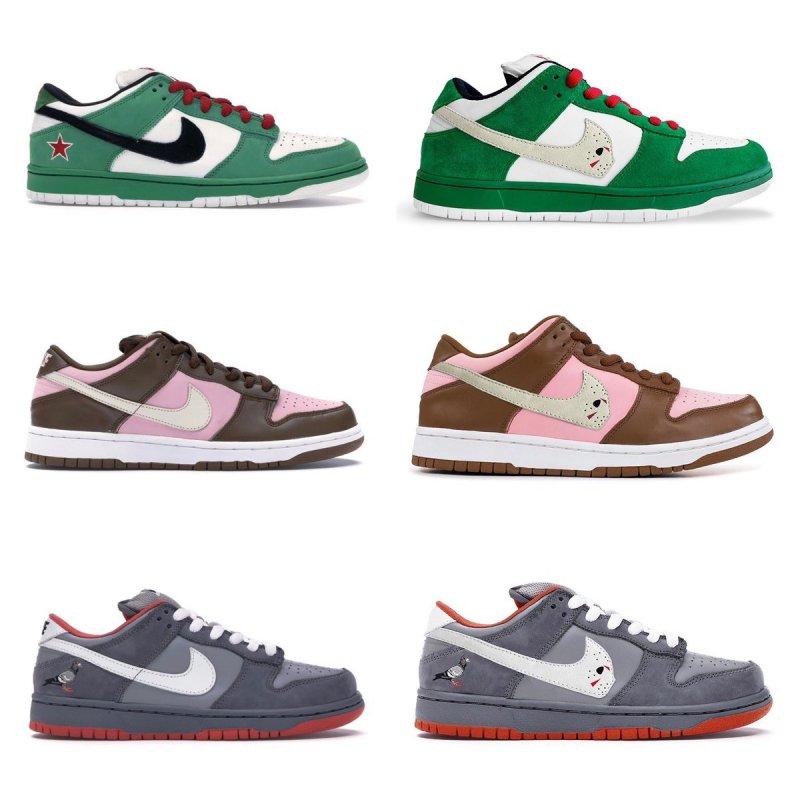 "Ovrnundr on Twitter: ""Nike Dunk Originals vs Warren Lotas 💭 #1. Nike SB  Dunk Low ""Heineken"" (2003) #2. Nike SB Dunk Low ""Stussy"" (2005) #3. Nike SB  Dunk Low ""Pigeon"" (2005)… https://t.co/7A2htbDgWn"""
