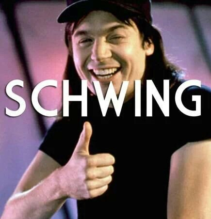 Schwing!!! | Waynes world quotes, Best movie lines, Wayne's world