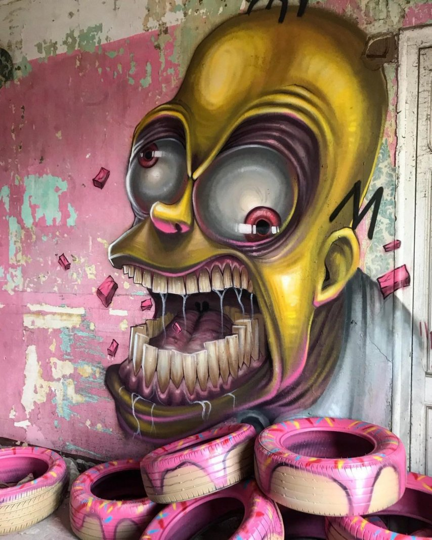 Homer Simpson Graffiti.JPG