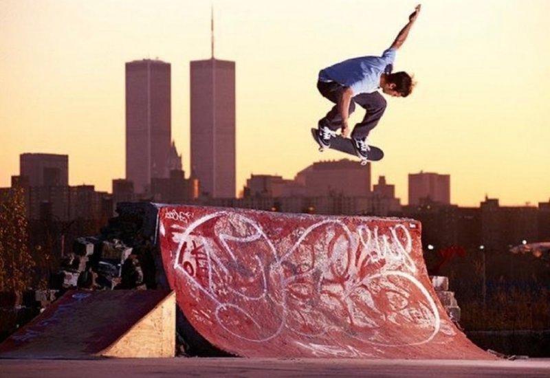 World Trade Center Skateboarder Graffiti.JPG