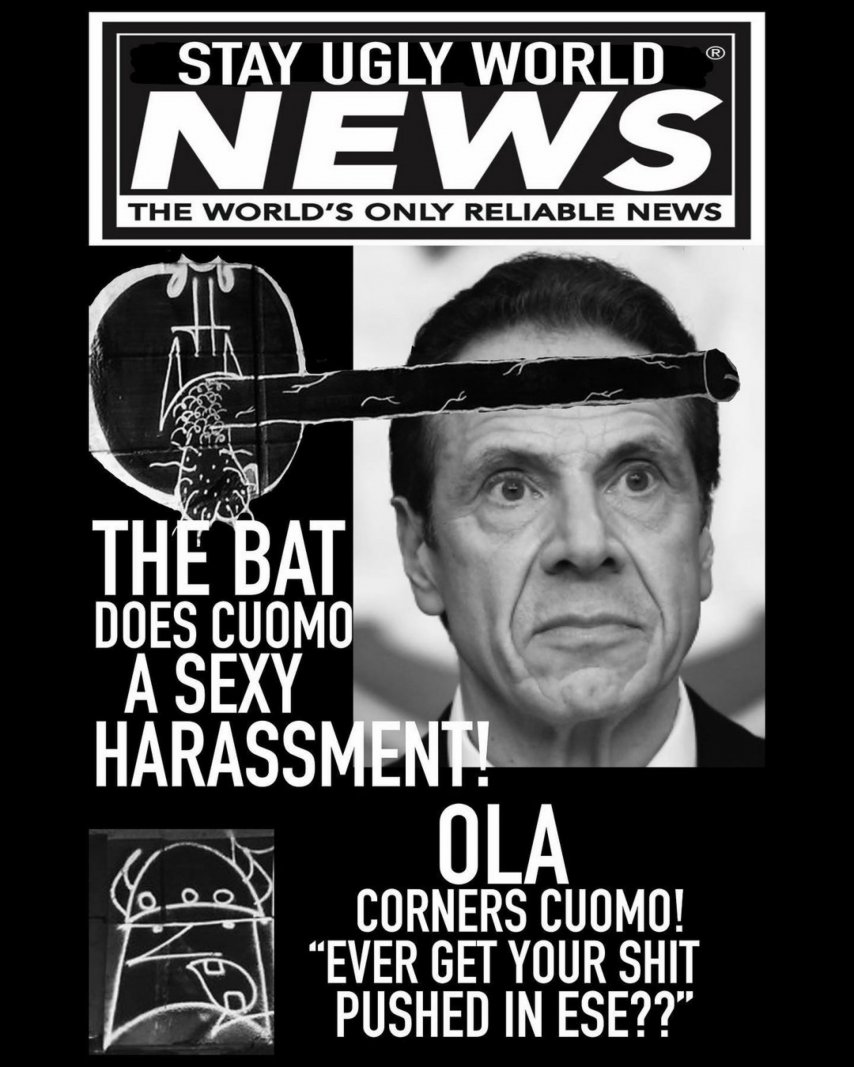 Bat Ola Stay Ugly World News Graffiti 2.JPG
